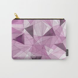 Abstract pink gray modern geometrical pattern Carry-All Pouch
