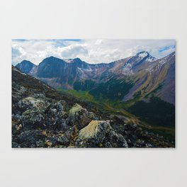 Down in the Valley, Pyramid Mt in Jasper National Park, Canada Canvas Print