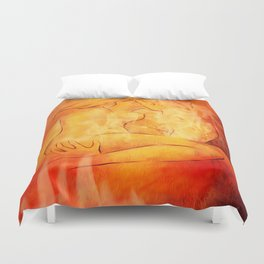 Flaming Passion - Love Couples Duvet Cover