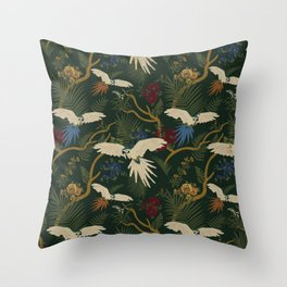 JUNGLE GREEN Throw Pillow