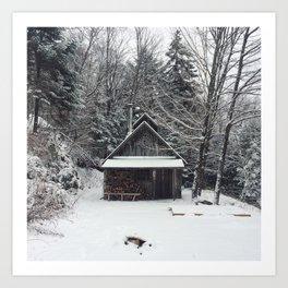 Ma cabane au Canada Art Print