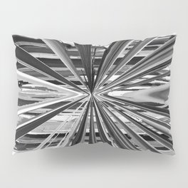 Black and White Abstract Stripe Design 706 Pillow Sham