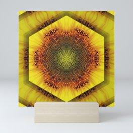 Sunflower Kaleidoscope by Cat Ryan Mini Art Print