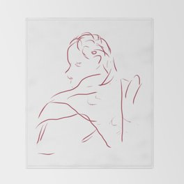 Face 2 Throw Blanket