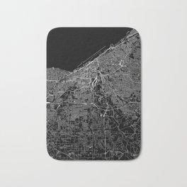 Cleveland Black Map Bath Mat