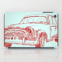 car iPad Cases featuring Car  by Kristoffer West Johnson