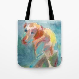 Dog in Shadow Tote Bag
