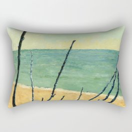 Branches on the Beach Rectangular Pillow