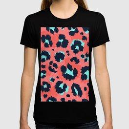 Modern Leopard skin funny hand drawn illustration pattern  T-shirt
