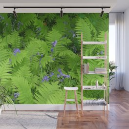 Bluebells and Ferns Wall Mural