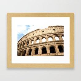 The Colosseum, Rome, Italy. Framed Art Print