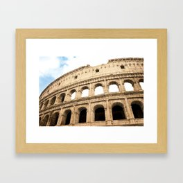 The Colosseum, Rome, Italy. Framed Art Print