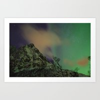 Norway lights 2 Art Print