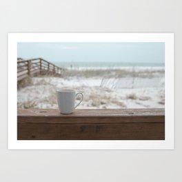 Cuppa at the Beach Art Print