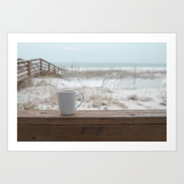 Cuppa at the Beach Art Print