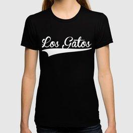 LOS GATOS Baseball Vintage Retro Font T-shirt