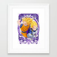 dragonball z Framed Art Prints featuring DragonBall Z - Saiyan House by Art of Mike