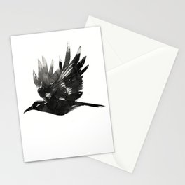 Crow Wings Up Stationery Cards