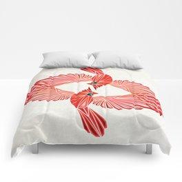 red cardinal Comforters