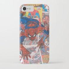 vintage comic spider man  iPhone 7 Slim Case