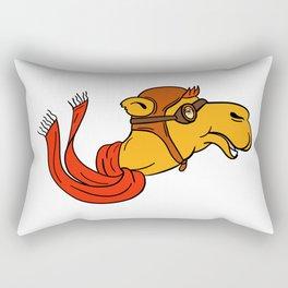 Aviator Camel Goggles Scarf Cartoon Rectangular Pillow
