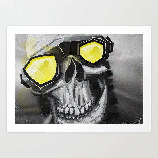 Skull and bones Art Print