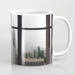New York City Skyline Window View Coffee Mug