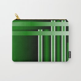 stripe green background with bright Carry-All Pouch