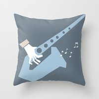 jazz Throw Pillows featuring jazz by liva cabule