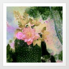 bouquet and vase Art Print