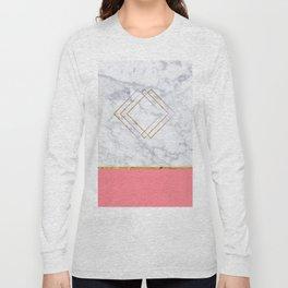 GEOMETRIC PASTEL MARBLE PATTERN Long Sleeve T-shirt