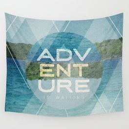 Adventure Is Waiting Wall Tapestry