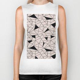 Blush pink black modern geometrical pattern Biker Tank