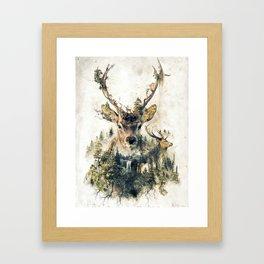 Deer Surrealism Framed Art Print