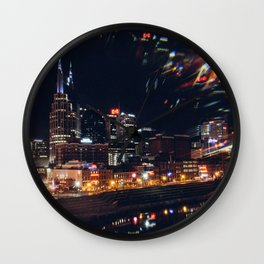 Music City Lights - Nashville Wall Clock