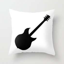 Electric Guitar Silhouette Throw Pillow