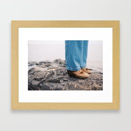 if shoes could talk Framed Art Print