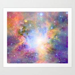 Orion Nebula Colorful Pastel Art Print