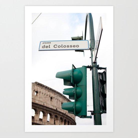 Piazza del Colosseo Art Print