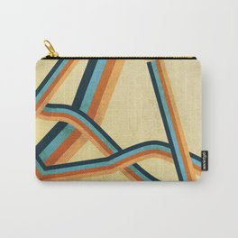 Grungy abstract geometric lines Carry-All Pouch