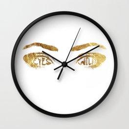 Eyes Wild Wall Clock