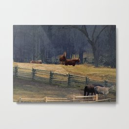 Wilderness Horse Ranch Metal Print