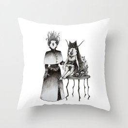 Victorian Set-up Throw Pillow