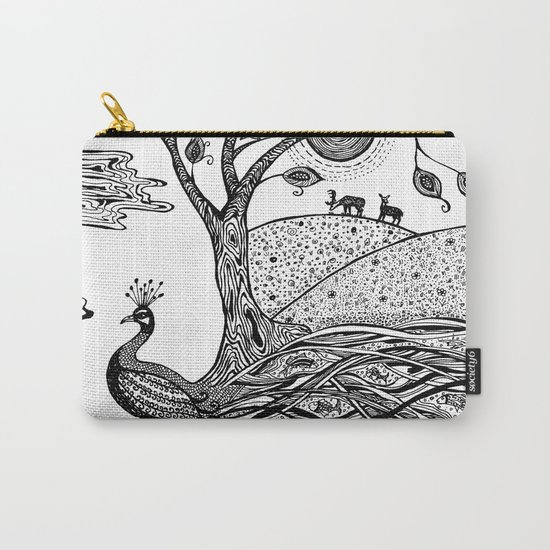 Peacock Fantasy Carry-All Pouch