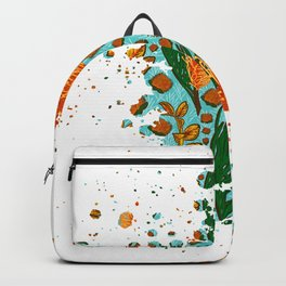 Australian Native Floral Graphic Print Backpack