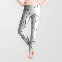 Black and White Geometric Minimalist Pattern Leggings