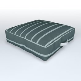 Blue Willow Green PPG1145-4 Hand Drawn Horizontal Stripes on Night Watch PPG1145-7 Outdoor Floor Cushion