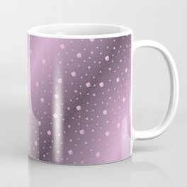 purple,Many pretty shamrocks in a design metal shiny festively elegant, for anyone from the family Coffee Mug