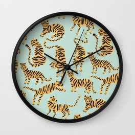 Tiger Collection – Mint & Orange Wall Clock