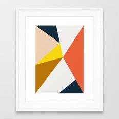 Geo colors Framed Art Print